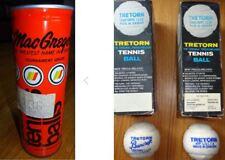 2 Brands: Vintage MacGregor un-opened & Tretorn Pressureless 6-balls in 2 packs.