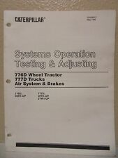 CATERPILLAR 776D 777D WHEEL TRACTOR TRUCK SYSTEMS OPERATION AIR SYSTEMS & BREAKS