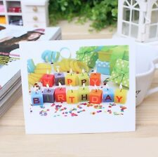 Happy Birthday Card Gift Card Creative Blessing Card COMPLIM. SERVICE or MIN. 5