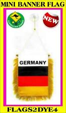 German flag Germany flag mini banner for office school car truck or window