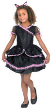 Girls Glitter Kitty Cat Black Dress Dance Child Kid Halloween Costume Medium
