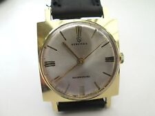 MENS VINTAGE SERVICES WATCH, RUNNING, MECHANICAL, GOLD TONED CASE,
