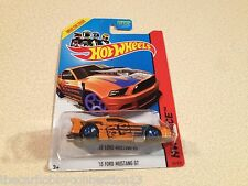 Hot Wheels Race 2013 Orange Ford Mustang GT Drag Car Diecast Car 1:64