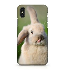 Brown Eyed White Coloured Fluffy Cute Mini Baby Bunny Rabbit Phone Case Cover