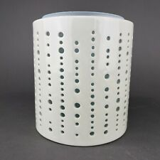 Yankee Candle Addison Jar Candle Holder Sea Glass Green Insert Cream Dots