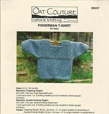 Fisherman T-Shirt Sweater for Baby Knitting Pattern Oat Couture BB207 (6-18mos)