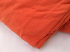 King Jersey Knit Siena Orange T-Shirt Fabric Duvet Comforter Cover