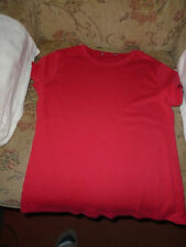 BNWT Girls M&S T-ShirtShort Sleeve Cherry Red  Bust 34-36 inches