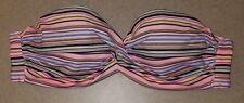 Womens Victoria's Secret Strapless Bikini Swim Top Size 34B Padded Underwire