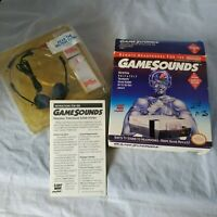 Gamesounds Remote Headphones for Nintendo Nes And Super Nintendo Light Wave CIB