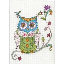 Dimensions Counted Cross Stitch Kit - Blooming Owl
