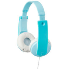 JVC Tiny Phones Kids Mint Blue Stereo Headphones Ear Pads Soft Headband Children