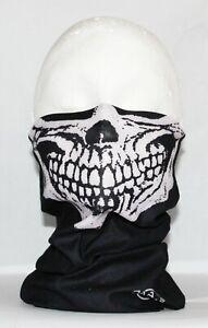 Multi use Biker Skull Cycling Neck Tube Scarf Snood Face Mask Warmer Bandana