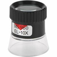 1  Plastic 10X Eye Loupe Timepiece Stamps Hobby Jewelry Magnifier 18mm Lens