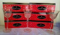 SET of 8 Christopher Radko Cut Crystal Glasses Drinking Glass NEW W ORIGINAL BOX