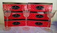Set of 8 Christopher Radko Cut Crystal Glasses Drinking Glass New W Original Box