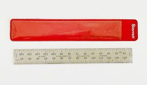 STARRETT No.C635E-150 150MM   Spring-Tempered Steel Rule; mm and 1/2mm Grad. USA