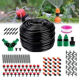 200ft / 60M Automatic Drip Irrigation System Kit Plant Self Watering Garden Hose