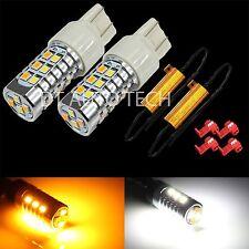 2X 2835 Chip LED 3157 SRCK CK Switchback LED Turn Signal Light Bulbs+Resistors