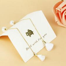 Women Korean Gold Silver Ear Threader Ear Long Chain Dangle Earrings Jewelry NEW