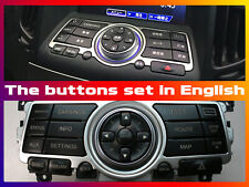 Buttons set in English for Skyline V36 for conversion to English, OEM repainted!