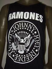 New Mens The Ramones Eagle Bat Tommy Joey Johnny Deedee Punk Rock Tank Top Shirt