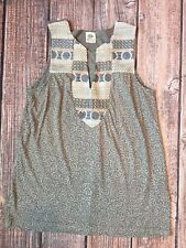 Anthropologie Tiny Embroidered Sleeveless Boho Hippie Tunic Top  SZ XS