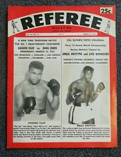 1963 Vintage Cassius Clay vs Doug Jones Referee Magazine RARE Muhammad Ali
