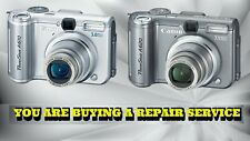 CANON A610 OR A620 REPAIR SERVICE for your BROKEN DIGITAL CAMERA-60 DAY WARRANTY