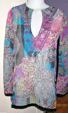 NWT Nordstrom Embellished neckline Shear Tunic Swim Top, M Multi-color