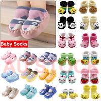 Newborn Baby Floor Socks Anti-Slip Cotton Unisex Cute Cartoon Animal Boots Shoes