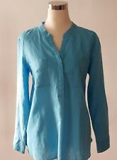 Talbots Shirt Pullover Linen Cotton Casual Size L 12-14 New 100% Authentic