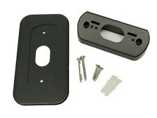 Black! Wall Plate with 30 Degree L/R Wedge Angle Mount for Nest Hello Doorbell