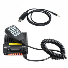QYT KT-8900R VHF/UHF 25W 2-Way Car Radios Transceiver +USB Programming Cable