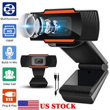 Live Webcam 1080P With Mic HD Cam Auto Focusing Web Camera For PC Laptop Desktop