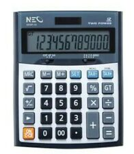 Neo Calculator solar cell office Equipment Working Type 2219T-12 Silver Color