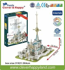 Clever&Happy 3D Puzzle Model Lineage 2 Aden Castle Educational Toys  Adult Paper