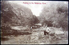 CARBONDALE Kansas~ 1912 FISHING IN THE WAKARUSA RIVER ~ With Long Branch !