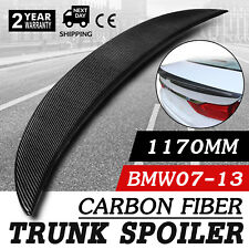 Carbon Fiber High Kick Trunk Spoiler BMW E92 Coupe 328i 335i M3 Wing Lip CF.