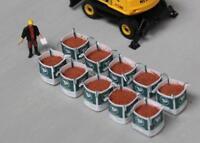 MODEL TP TONNE BAGS W/ BUILDERS SAND LOADS OO/HO GAUGE 1/76 - PACK OF 10