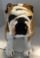 Large Realistic Plush English Bulldog