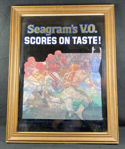 "Seagram's V.O. Scores On Taste! Canadian Whiskey Mirror Bar Sign 22.5"" x 17.5"""