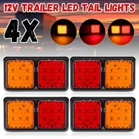 4Pcs 72 LED TRAILER Truck Caravan UTE REAR TAIL STOP LIGHT LED LAMPS  //
