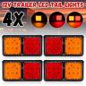 4Pcs 72 LED TRAILER Truck Caravan UTE REAR TAIL STOP LIGHT LED LAMPS  //