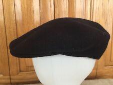 Kangol 504 Flat Cap Hat Wool Navy Blue Size M