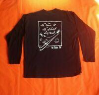 Val D'isere Ski Screen Stars Single Stitch 1996 Back Print Black XL T Shirt