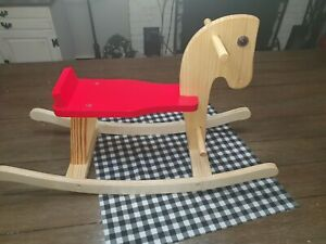 Wooden Rocking Horse red and pine very nice great condition Pre-owned!