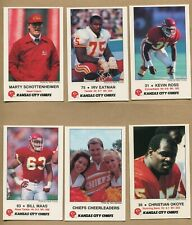 1989, Kansas City Chiefs, NFL Football, 10 card Police, Frito Lay set, 16546
