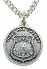 """St Michael Police Protection Saint Medal 1"""" w/ Stainless Steel Chain & Gift Bag"""