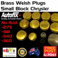 Brass Welch Welsh Freeze Core Plug Set Gallery Fits SB Chrysler 273 318 340 360
